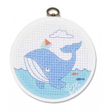 DMC My First Stitches Cross Stitch Kit - The Whale BK1840